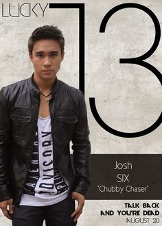 Josh Padilla as Six Barasque - The Chubby Chaser Lucky 13 Talk Back You're Dead Cast Boys Names All Names Pictures Information Videos Latest News Name Pictures, Funny Pictures, Talking Back, You're Dead, Gangsters, Boy Names, Local Artists, Bomber Jacket, It Cast