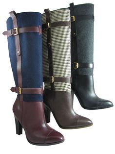 Tommy Hilfiger Womens Frita Blue Brown or Grey  Knee-High  Fashion Heels Boots #TommyHilfiger #FashionKneeHigh
