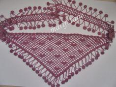 Tığ işi Fular - Boyunluk Resimli yapılışı burada:  http://www.marifetane.com/2014/04/tig-isi-fular-boyunluk-crochet-scarf.html