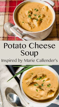 Potato Cheese Soup inspired by Marie Callender's