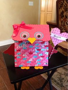 Owl Valentine's box~The Vintage Goose
