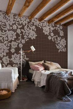 Papier peint motif floral / contemporain / aspect tissu CUT PAD by Christian Benini Wall&Deco