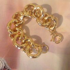 J. Crew Gold Link Bracelet Beautiful new never worn j crew chunky gold bracelet J. Crew Jewelry Bracelets
