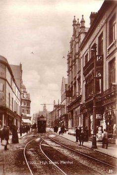 The High Street, Merthyr Tydfil, Wales Wales Uk, South Wales, Vacation Destinations, Dream Vacations, Old Pictures, Old Photos, Learn Welsh, Fort Smith, Kingdom Of Great Britain