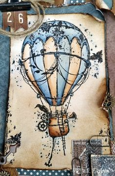 Ballon Illustration, Air Balloon Tattoo, Hot Air Balloon Drawings, Hot Tattoo Girls, Bild Tattoos, Desenho Tattoo, Art Drawings, Cool Art, Art Photography