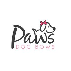 Combined a cute dog with the company's name to highlight their product. | Logo, Graphic Design, Fashion, Dog, Typography, Paw, Bows, Cute, Whimsical