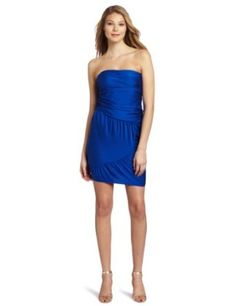 Catherine Malandrino Women's Strapless Ruched Dress
