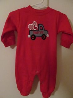 Personalized Boys Romper for Valentines Day by vduff on Etsy, $25.00