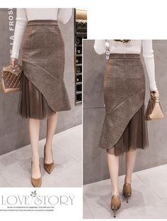 Skirt Outfits, Dress Skirt, Fashion Pants, Fashion Dresses, Skirt Patterns Sewing, Look Chic, Contemporary Fashion, Fashion 2020, Casual Dresses