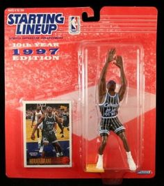 Nba Action Figures, Horace Grant, Childhood Days, Orlando Magic, Army Men, Figure Model, Lineup, Trading Cards, Superstar