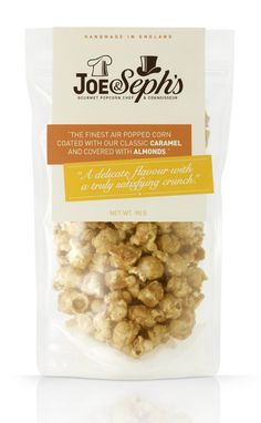 packaging by Designers Anonymous for Joe & Seph's Gourmet Popcorn.