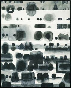 Jan Tarasin(Polish, 1926-2009)Records Ⅲ  1993  indian ink, brush, papervia