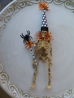 Dress up a dollar store skeleton.