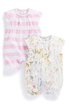 Buy Flower And Stripe Rompers Two Pack (0-18mths) from the Next UK online shop