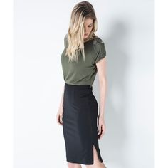 Shoulder - SAIA LAPIS CREPE-PRETO - R$ 279,00 Moda Petite, Cool Outfits, Casual Outfits, Office Fashion, Petite Fashion, Casual Looks, Work Wear, Ideias Fashion, What To Wear