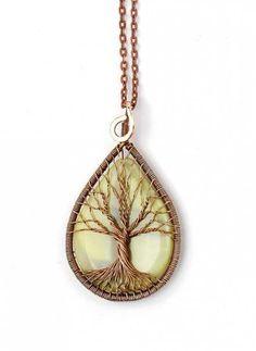 8d4f7e9abcad 55 Ideas Diy Jewelry Pendants Tree Of Life  diy Vida