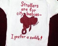 baby girl western onsies | ... Saddle, Baby Horseback Rider, Country Western Baby, Little Equestrian