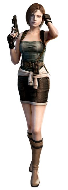 Jill Valentine (6) - Origin: Marvel vs Capcom 2- looks like a women but fights better than any man