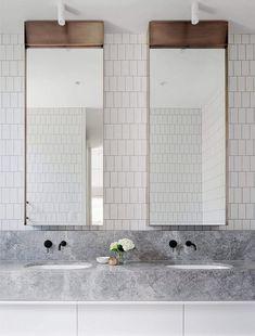 Home Interior Traditional .Home Interior Traditional Bathroom Toilets, Laundry In Bathroom, Small Bathroom, Master Bathroom, Washroom, Bathroom Mirror Inspiration, Mirror Ideas, Bathroom Inspo, Bathroom Hacks
