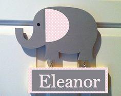 Items similar to Chevron Elephant Door Hanger on Etsy