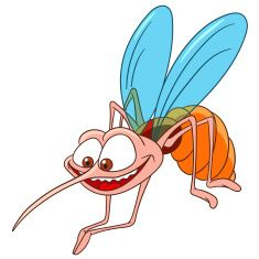 cute cartoon mosquito vector art illustration