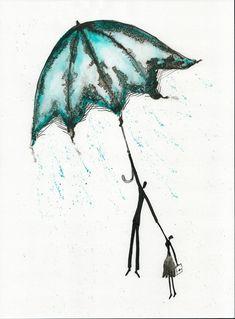 Abstrakcja deszczowa ulica ręcznie malowany obraz kobieta z | Etsy Rain Street, Romantic, Etsy, Abstract, Drawings, Illustration, Pictures, Painting, Vintage