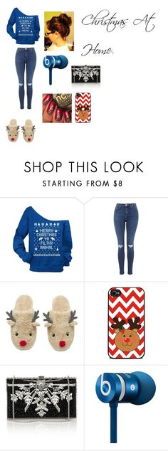 """""""Christmas At Home"""" by jaden-norman ❤ liked on Polyvore featuring interior, interiors, interior design, home, home decor, interior decorating, Judith Leiber and Beats by Dr. Dre"""