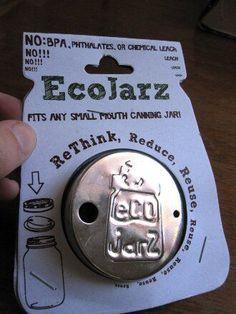 EcoJarz stainless steel mason jar travel mug lid
