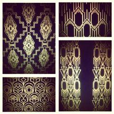 Great Gatsby inspired Art Deco Pattern Designs - Allison Marsay for Calderdale Carpets