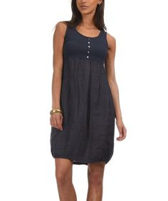 Love this Navy Perla Linen Dress by Emma Jones on #zulily! #zulilyfinds