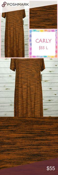 NWT LuLaRoe Carly (large) orange/black striped NWT LuLaRoe Carly (large) orange/black striped LuLaRoe Dresses Maxi