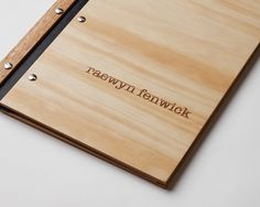 Custom portfolio engraved wood design with 30 inserts. $80.00, via Etsy.