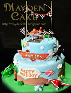 Mayden Cake & Personalized Gifts: Disney Planes for Hayden's Birthday Disney Planes Cake, Disney Planes Birthday, Happy Birthday Me, First Birthday Parties, 5th Birthday, Birthday Ideas, Birthday Stuff, Little Boy Cakes, Cakes For Boys