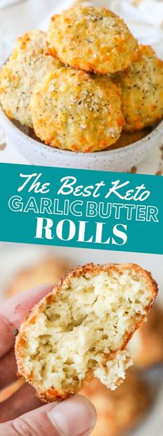 The Best Easy Keto Garlic Butter Rolls Recipe - Sweet Cs Designs Butter Roll Recipe, Rolls Recipe, Baked Ranch Chicken, Baked Chicken Wings, Chicken Wing Recipes, Pork Chop Recipes, Roast Recipes, Bread Recipes, Baking Recipes