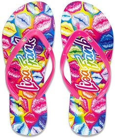 Lisa Frank Flip Flop With Authentic Prints -- We appreciate you for seeing our picture. (This is an affiliate link) Lisa Frank Clothing, Heather Lee, Lisa Frank Stickers, Comfortable Flip Flops, 90s Girl, Colorful Shoes, Bright Shoes, Air Jordan Sneakers, Slippers