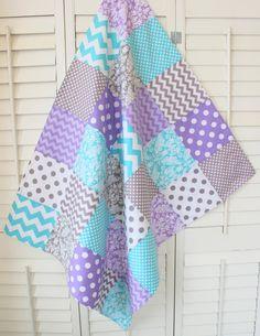 Baby Girl Blanket Fleece Blanket Nursery Decor by theredpistachio