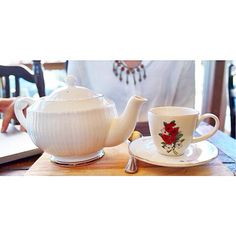 chai tea at one of our favorite spots in chiang mai x