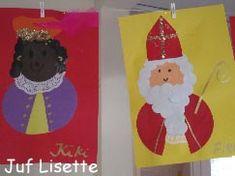 Sint en piet Kids Crafts, Banners, Kindergarten, Saints, December, Presents, Holiday Decor, School, Birthday
