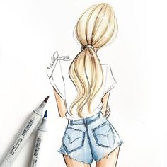 In search of: the perfect white tee. -- Holly Nichols Illustration