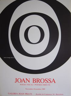 Joan Brossa - Original Artist Poster 1989 by ARTANDVINTSTORE on Etsy Poesia Visual, Museum Poster, Creative Poster Design, Original Vintage, Graphic Artwork, Poster Design Inspiration, Exhibition Poster, International Artist, Vintage Posters