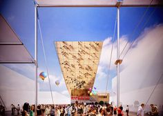 Expo 2015 Milano Blog: The 30 metre-long cantilever roof of Russian pavil...