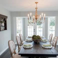 Fixer upper with chip and joanna gaines hgtv french country dining room, fr French Country Dining Room, French Country Decorating, Fixer Upper, Layout Design, Design Ideas, Design Design, Apartment Therapy, Casual Dining Rooms, Design Tisch