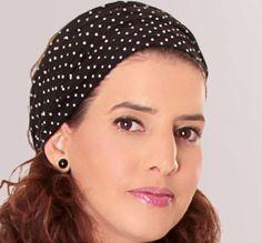 Schwarzes Kopftuch Bandana mit  Punkten von TAMAR LANDAU auf DaWanda.com