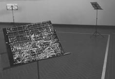 """#Olivia Marani #""""Nigredo""""  #spartito per violoncello solo  #disegno a penna su musiche di Francesco Guerri #biennaledisegnorimini #saladellarengo"""