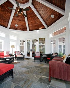 The octagonal sunroom was designed by Phil Jenkins, AIA and built by the craftsmen of Martin Bros. Contracting.