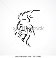 Angry lion - vector illustration