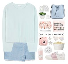 """""""Sin título #2596"""" by liliblue ❤ liked on Polyvore featuring Torre & Tagus, Armani Jeans, Topshop, Chloé, Valentino, Herbivore, Cara, H&M, Fujifilm and Davines"""
