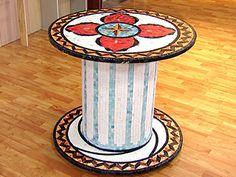 Manualidades y Artesanías   Mesa con mosaicos   Utilisima.com