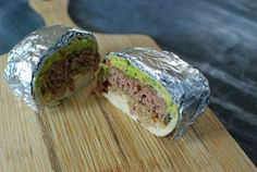 The burgerrito is a perfect cross between a burger and a burrito. Mexican Dishes, Mexican Food Recipes, Welcome To Good Burger, Jalapeno Burger, Good Food, Yummy Food, Yummy Recipes, Burger And Fries, Burgers