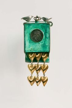 """Konrad Mehus: """"Poor Man's Sølje with Golden Hearts"""", Norway Golden Heart, Scandinavian Design, Coin Purse, Pearls, Wallet, Crafts, Jewelry, Norway, Artists"""